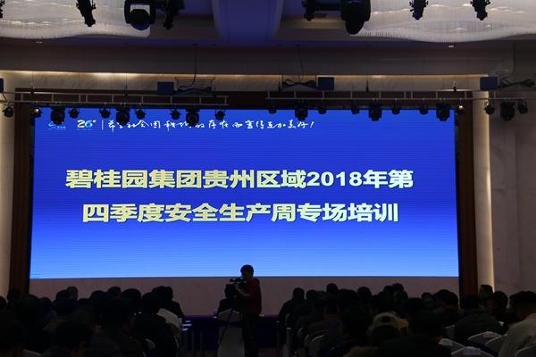 碧桂园万博手机区域2018年第四季度安全生产周专场培训举行